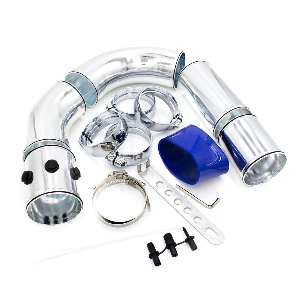 "Autos 3/"" 76mm Air Intake Pipe Kit Cold Air Intake Aluminum Pipe Air filter Pipe"