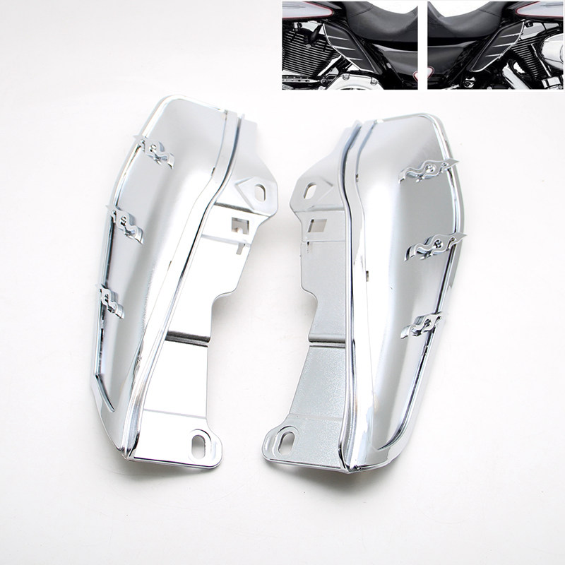Motorcycle Air Master Mid-Frame Air Deflector For Harley Electra Glide Street Glide Road King Road Glide 2009-2012 pair air deflector windshield side wings dark tint smoke for harley electra glide road kingstreet glide motorcycle