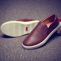 Homens Sapatos de Couro Casual Loafers Preguiçosos Peas Moda Diária Inferior a Primavera Eo Verão de Moda Jovem Estilo 3 Cores Disponíveis