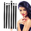 100% High Quality 6 Pcs Professional Makeup Brushes Set Make Up Wood Tools Cosmetics Brush Kit Black