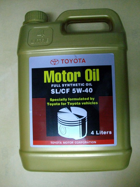 toyota motor oil sl cf 5w 40 in rust remover from automobiles motorcycles on. Black Bedroom Furniture Sets. Home Design Ideas