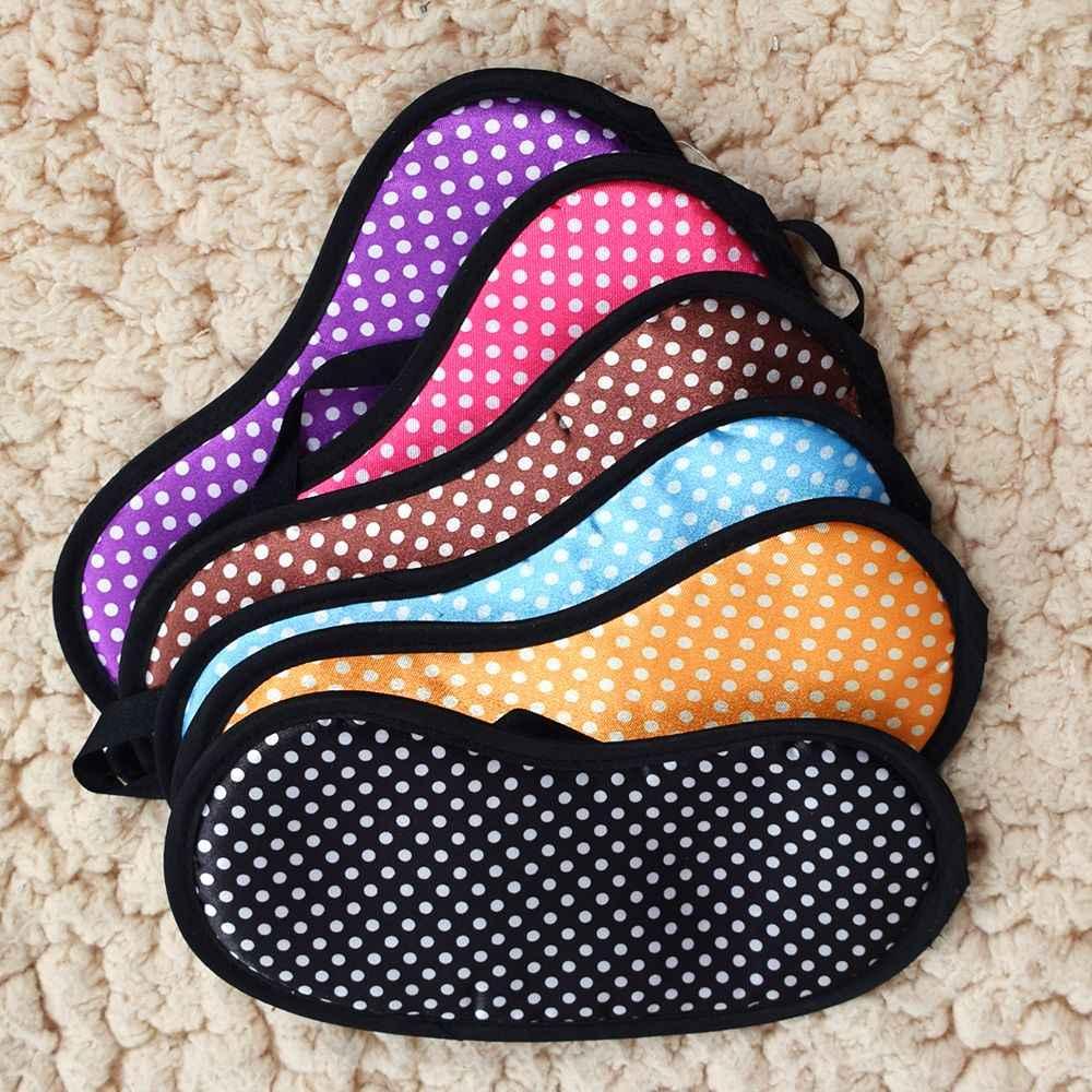 1 PCS Dot พิมพ์ Sleeping Eye Mask ใหม่ Portable Soft Travel Sleep Rest Aid Eye Mask Cover Eye หน้ากากสำหรับ Rest เครื่องมือ