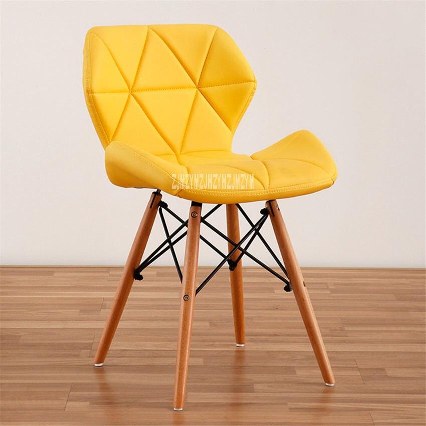 Деревянный стул для отдыха, современный креативный стул для гостиной, простой бытовой обеденный стул для кофе, офисное компьютерное кресло с спинкой - Цвет: K