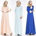 Мода Мусульманин Платье Абая Исламская Одежда для Женщин Высокое Качество Мусульманин Абая Дубай Кафтан Длинное Платье JZ2424