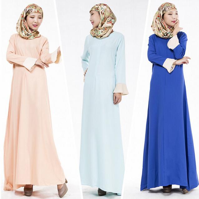 La moda Musulmana Abaya Dubai Kaftan Abaya Musulmán de Las Mujeres Islámicas Ropa de Alta Calidad Vestido Largo JZ2424