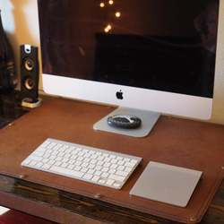 Almohadilla de escritorio de cuero de escritorio Blotter alfombrilla de ratón hecha a mano decoración de oficina almohadilla de escritorio Protector de escritorio de oficina
