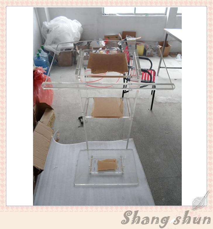 Transparent Plexiglass Podium Pulpit Lectern Acrylic Lectern Church Pulpit Clear Plastic Church Podium
