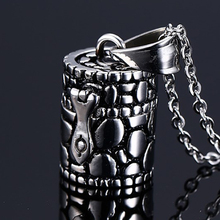 Memorial Urn Ash Holder Pendant For Men Women Casting Stainless Steel Unisex Casual Jewelry Memory For Pets Cat Parents