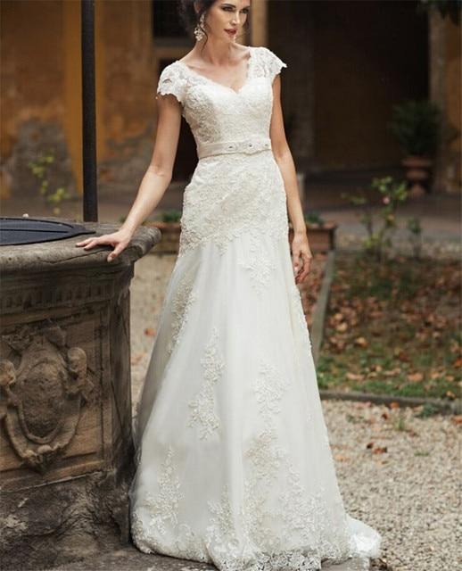 2017 de la vendimia de la envoltura vestidos de novia de barrido