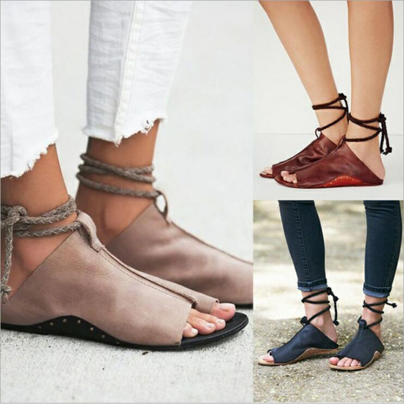 Women sandals 2018 summer high quality fashion ankle strap leather sandals concise women flat shoes plus size 35~43 gktinoo genuine leather sandals women flat heel sandals fashion summer shoes woman sandals summer plus size 35 43 free shipping