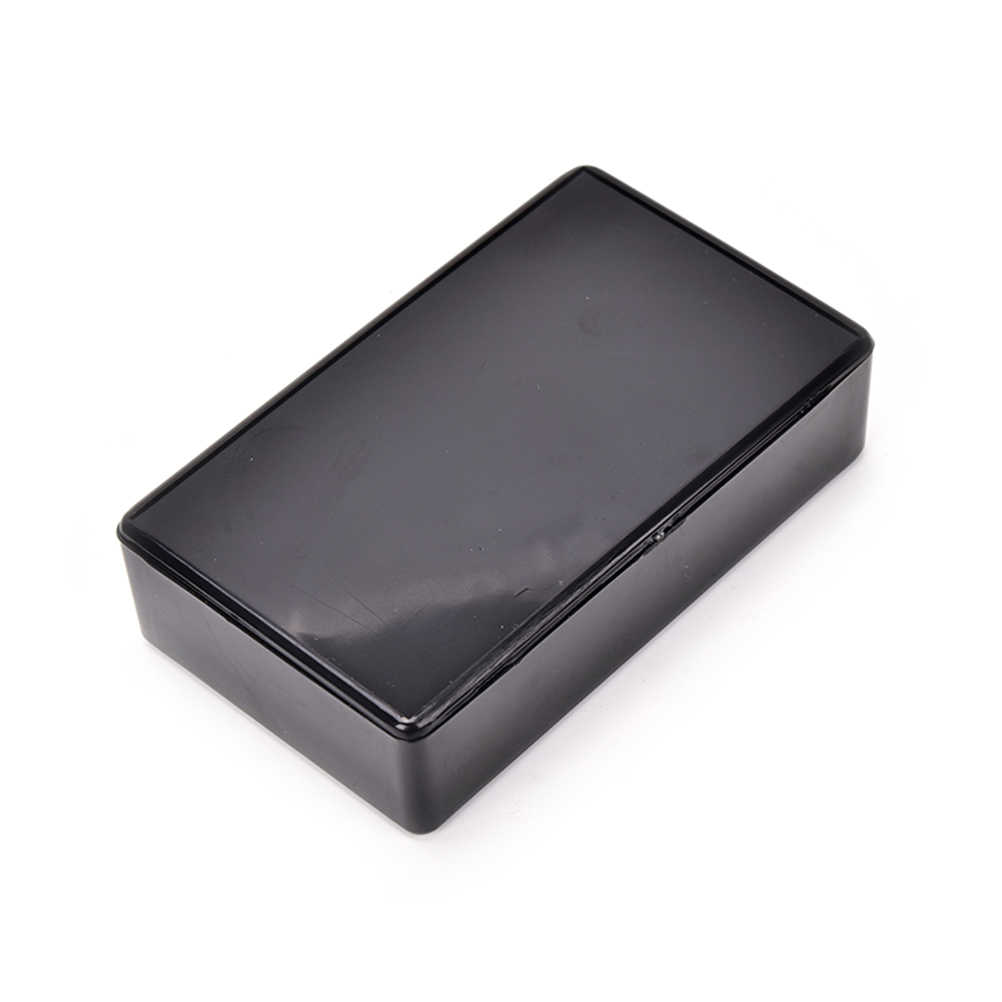 SHNGki 100x60x25mm negro DIY caja de instrumentos suministros eléctricos 1 Uds caja de plástico para proyecto electrónico