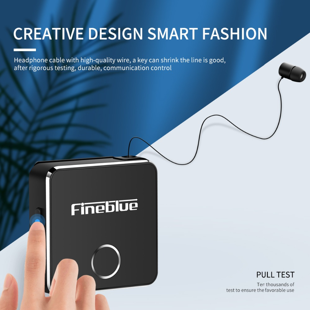 Astrosoar - FineBlue F1 Wireless Bluetooth V5.0 Collar-Clip Earphone Calling Vibration Alert Headphones