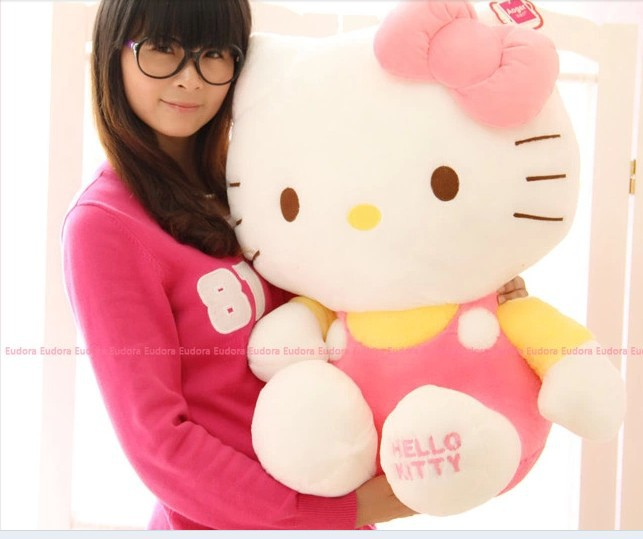 stuffed animal lovely cat plush toy about 58cm pink hello kitty doll 23 inch toy k8545 stuffed animal 90 cm plush dolphin toy doll pink or blue colour great gift free shipping w166