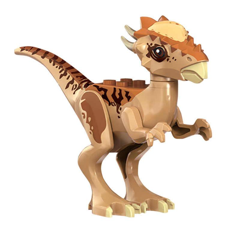 Mundo jurássico 2 Styx Azul Bebê Dragão Velociraptor Dinossauro Crianças Tijolos de Blocos de Construção DIY Educacional Brinquedo de Presente