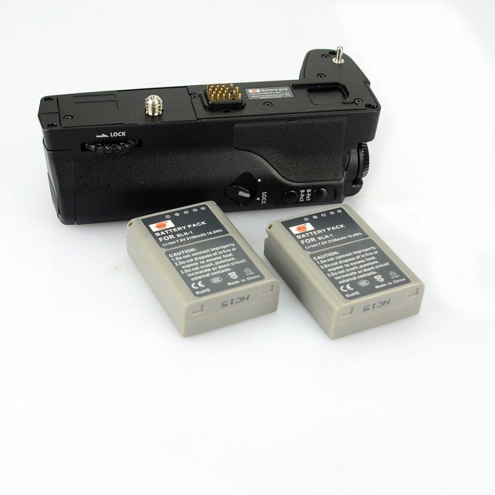 ФОТО DSTE HLD-7 Battery Grip + 2PCS BLN-1 Battery For OLYMPUS E-M1 Camera