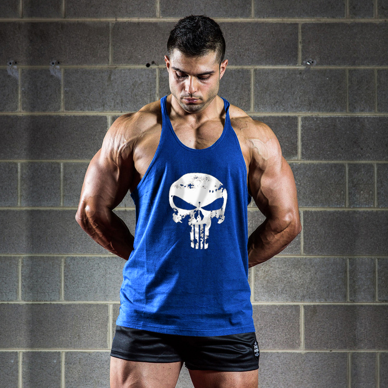 New Man Sexy Pure Cotton Fashion Sportswear Vest Bodybuilding font b Fitness b font Exercise Cotton