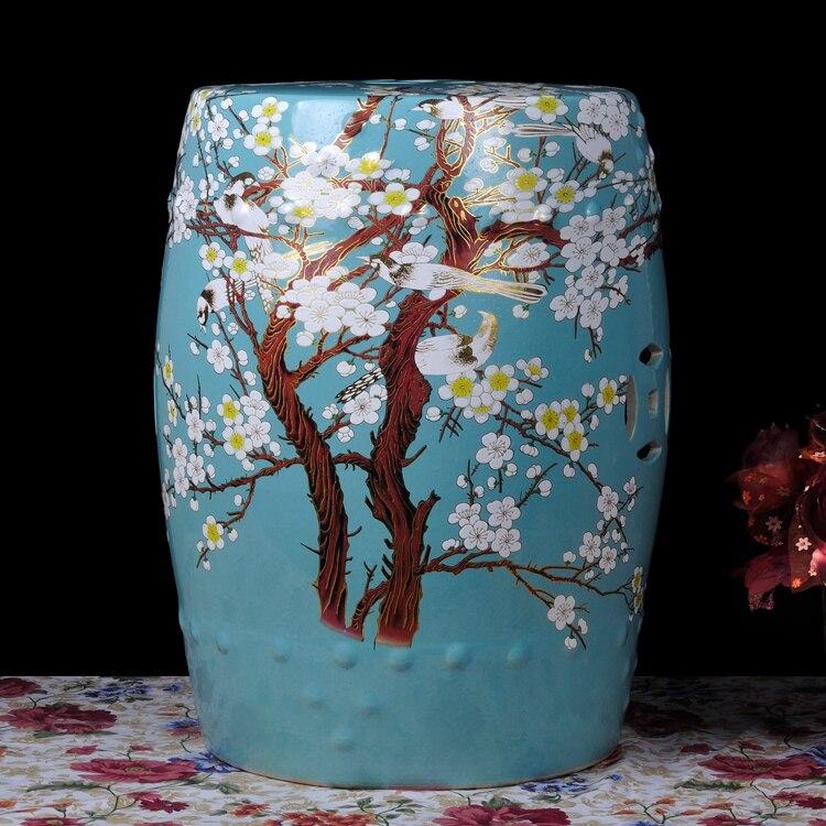 все цены на Various Chinese Famille Rose Porcelain Ceramic Garden Side Table Stool With Flower Bird Design онлайн