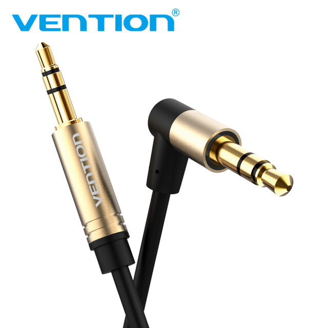 Vention 3.5mm Jack Audio Cable 3.5 Male to Male Cable Audio 90 Degree Right Angle AUX Cable for Car Headphone MP3/4 Aux Cord 5