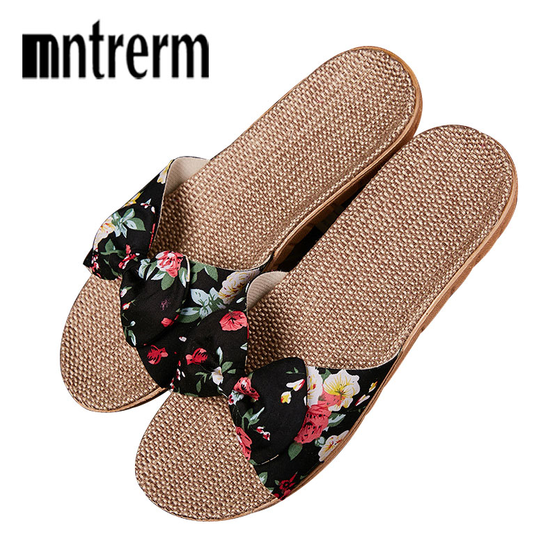 Women Linen Slippers Summer Flax Home Slippers Cute Butterfly-knot Non-slip Unisex Family Slippers Floor Ladies New Home ShoesWomen Linen Slippers Summer Flax Home Slippers Cute Butterfly-knot Non-slip Unisex Family Slippers Floor Ladies New Home Shoes