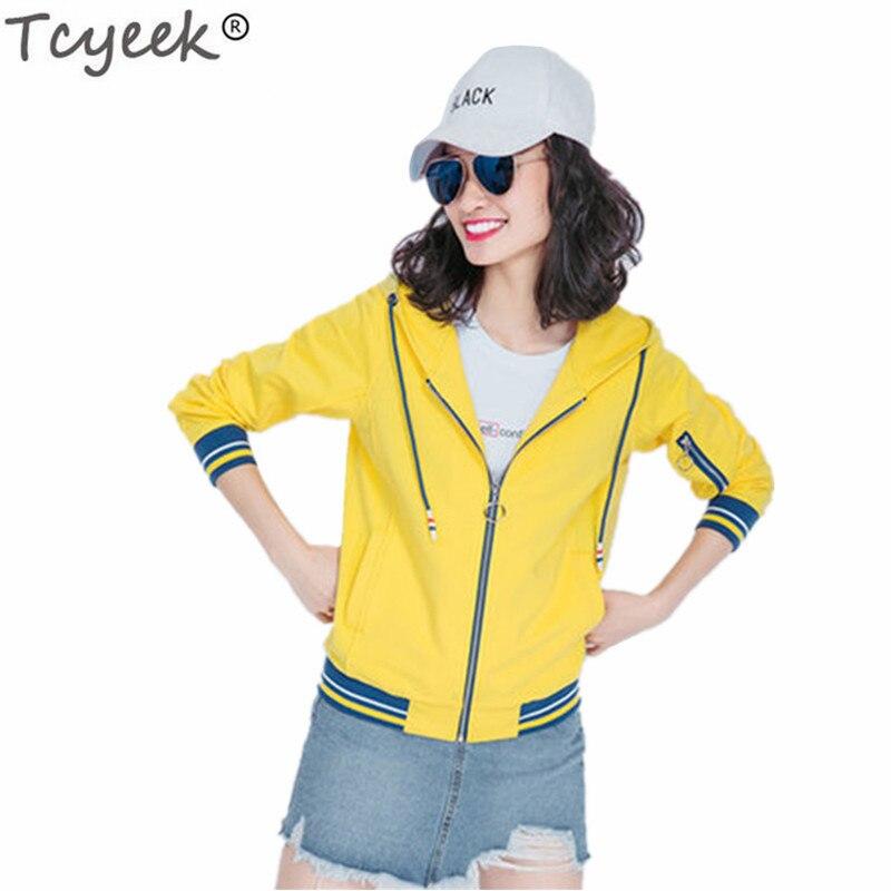 Light Automne 2019 De Mode Femme Sweatershirts Veste Pink Femmes Survêtement Vêtements yellow Longues Tcyeek Vestes Lwl499 Capuchon orange Occasionnel À Manches Dames black FU5q4ww