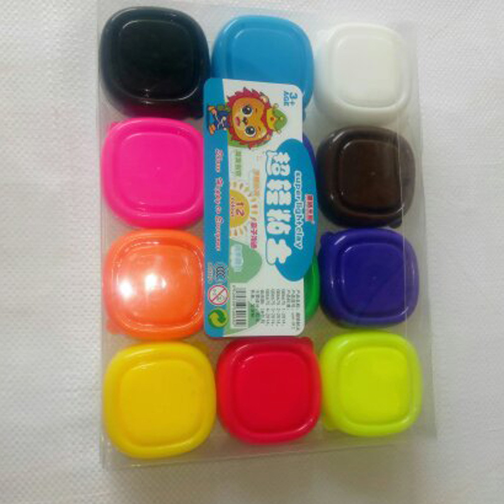 12 Colors Floam Slime Scented Stress Relief No Borax Kids Toy Sludge Toy Cotton Mud Plasticine Gifts