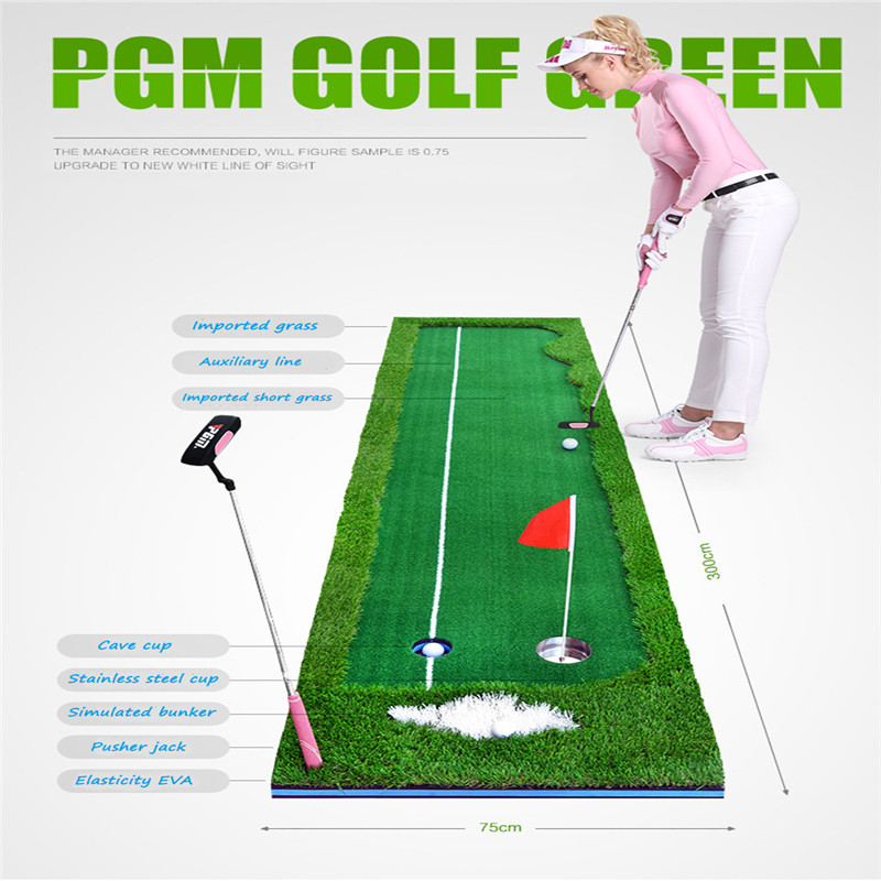 Golf Putter Putting Trainer PGM Indoor Training Equipment Golfs Ball Holder Training Aids Tool Office Green Fairway Practice Mat