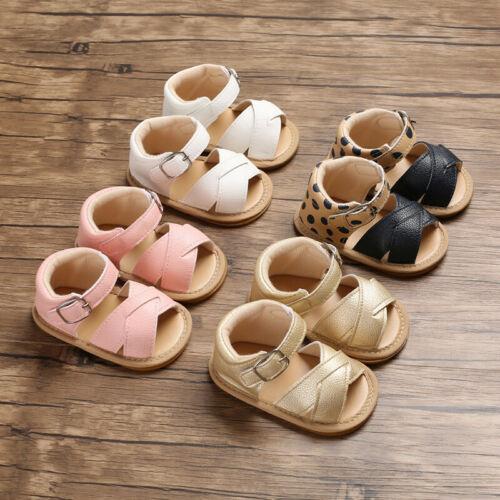 Summer Baby Kid Boy Girl Sandals Prewalker Newborn Leather Soft Sole Crib Shoes