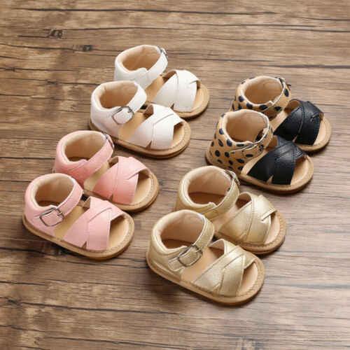 Summer Baby Kid Boy Girl Sandals Prewalker Newborn Leather Soft ...