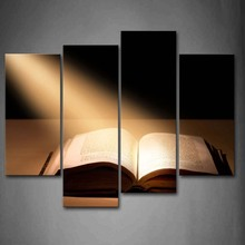 4 Panels Unframed Wall Art Pictures Holy Bible Canvas Print Modern Religion Posters No Frames For Home Living Room Decor