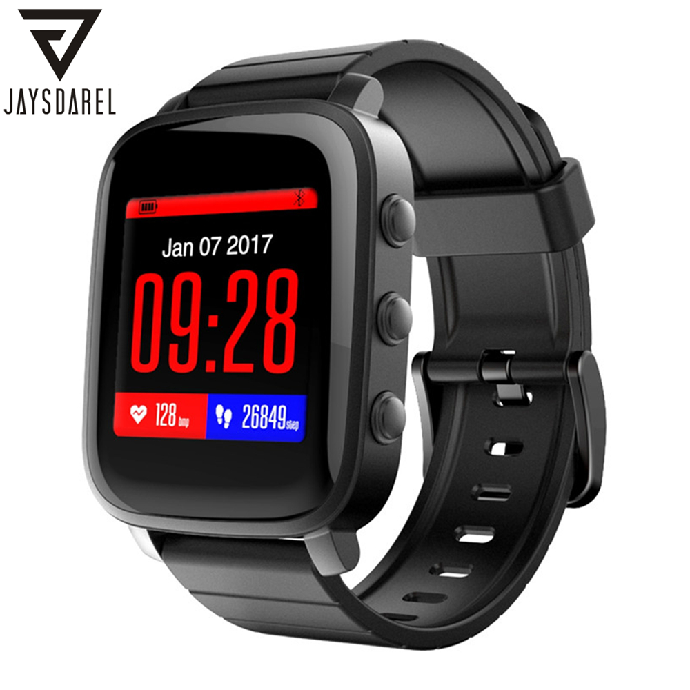 JAYSDAREL SMA-TIME Heart Rate Smart Watch 1.28 Inch LCD Screen 40 Days Long Standby Time Sport Fitness Bracelet for Android iOS ipl laser epilator hair removal lady lcd permanent device bikini hair trimmer machine electric depilatory depilador a laser