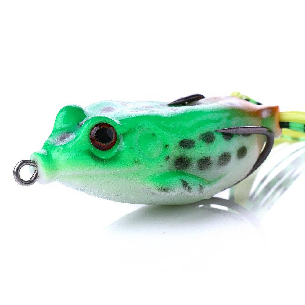 1 PCS 6CM/13G Artificial Soft Cork Bait Japan Fishing Bait Frog Lure High Hooks Topwater Ray Frog Fishing Bait 5-Color Box