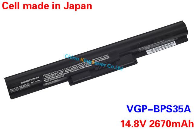 2670 mAh genuino VGP-BPS35A batería del ordenador portátil para SONY Vaio Fit 14E 15E serie BPS35A SVF1521A2E SVF15217SC SVF14215SC SVF15218SC