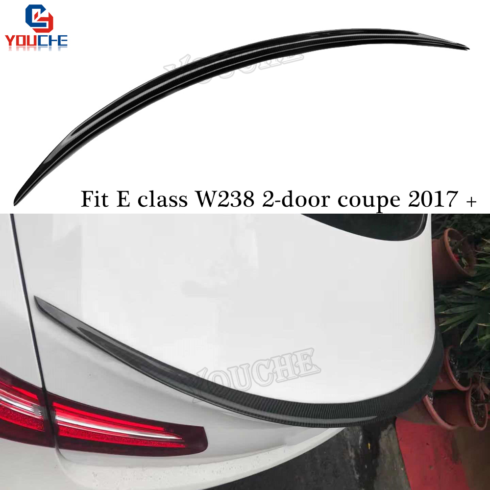 W238 AMG Style Carbon Fiber Rear <font><b>Spoiler</b></font> Wing For Mercedes <font><b>C238</b></font> E Class 2-door Coupe 2017 + E300 E350 E550 Trunk Lid image