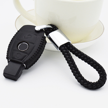 Leather Car Keyring Key Case Cover For Mercedes Benz W202 W203 W204 W211 W210 W212 W124 CLK Auto Key Chain Shell Accessories car wind universal auto car seat cover for mercedes w204 w211 w210 w124 w212 w202 w245 w163 car accessories seat protector