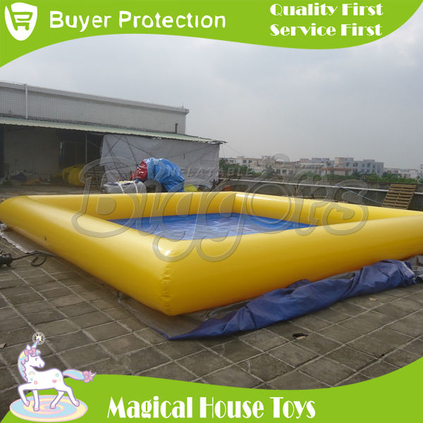 Commercial above ground large square inflatable pools for for Inflatable above ground pools