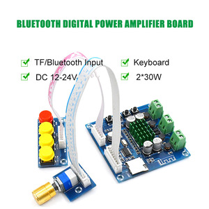Image 3 - XH A231 TF Bluetooth Digital Amplifier 15W+15W stero audio amplifier With Volume adjustment DC 12 24V