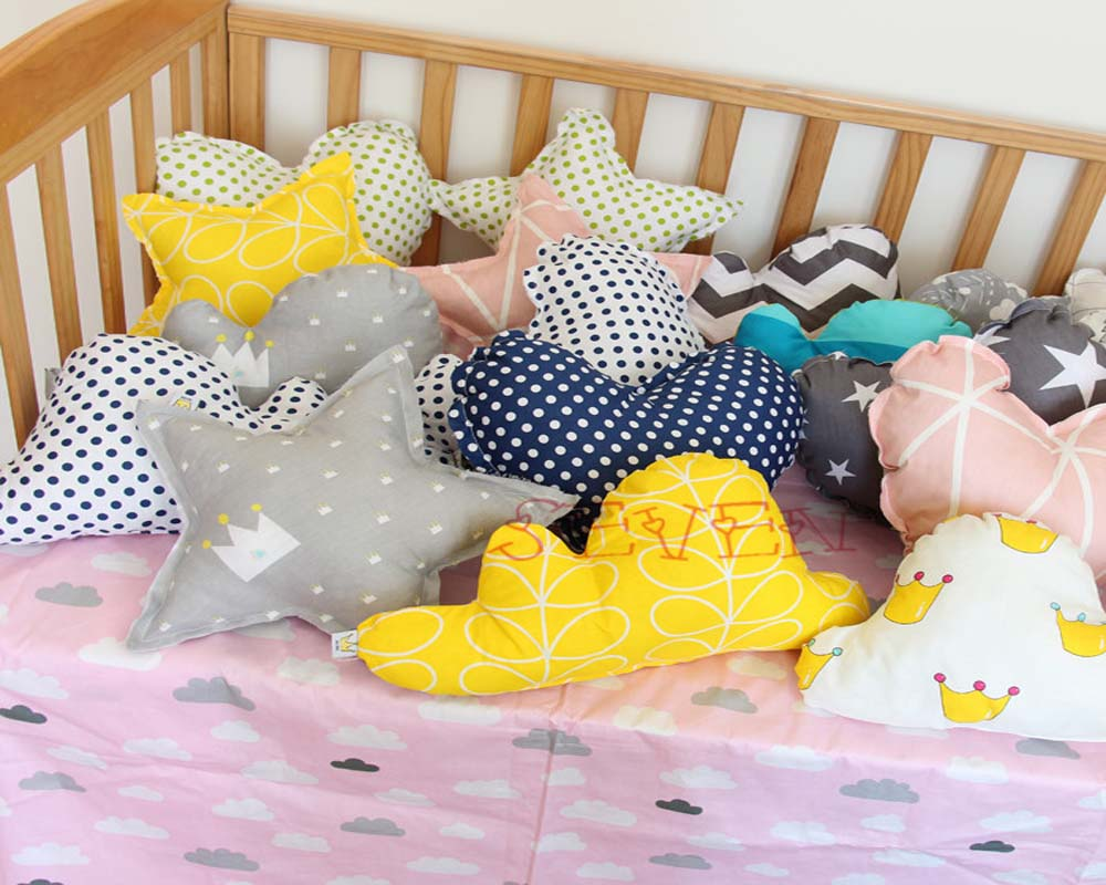 Baby bed sheet pattern - Cute Heart Shape Cushion Cotton Fashion Baby Pillow Kids Creative Decoration Plus Baby Bedding Pillows