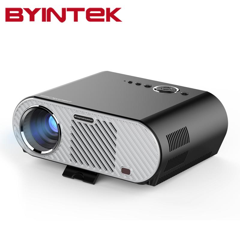 Prix pour 2017 BYINTEK GP90 1280x800 WXGA 720 P Film Cinéma USB Full HD Vidéo HDMI VGA 1080 P AcTO Home Cinéma Projecteur