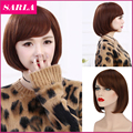 1 PC Cute Synthetic Wigs with Side Bang for Women Cosplay Wigs Short Bob Wigs Women Send Wig Cap as Gift Christmas