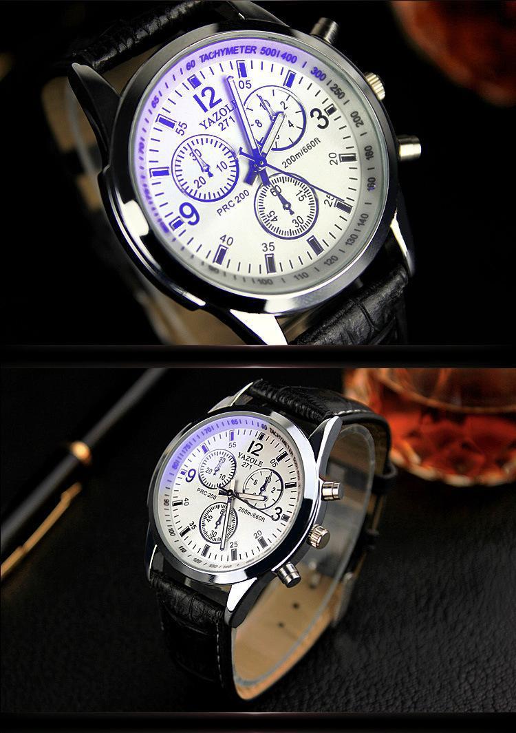 Relógio de Pulso de Luxo Relógios de Quartzo Cintos de Couro Relógio de Pulso Nova Listagem Yazole Masculino Marca Moda Barato Esportivo Relógio