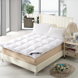 Image 3 - 100% เป็ด Goose Feather FILLER ที่นอนผ้าฝ้ายชั้นที่นอน 10 ซม.Feather ที่นอนคู่พับได้