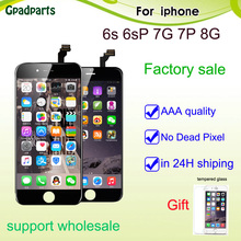 ФОТО gpadparts aaa lcd for iphone 6s 6s + display iphone i7 lcd iphone 7p 7 plus touch screen 3d digitizer assembly