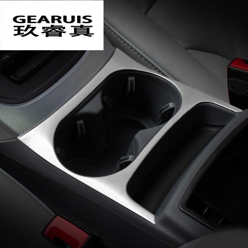 Auto Styling Innen Edelstahl kohlefaser Aufkleber Wasserbecherhalter Panel Dekoration Trim Für Audi Q5 2009-2017