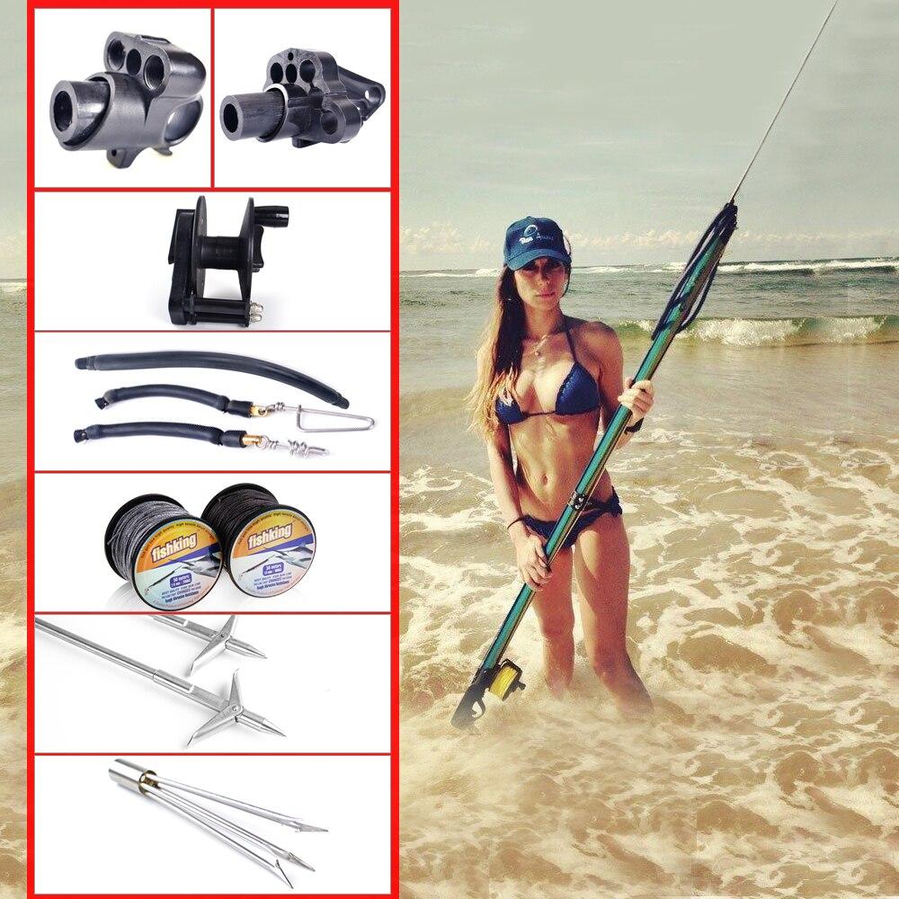 FISCH KÖNIG Neue Heiße Speerfischen Zubehör Harpune Werkzeug Thunfisch Angelschnur Jig Unterstützen Linie Angeln Reel FishingTackle