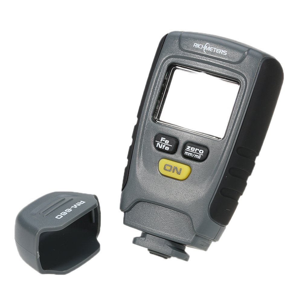 Tools : RM660 Handheld Digital Paint Coating Thickness Gauge Tester Fe NFe 0-1 25mm for Car Instrument Iron Aluminum Base Metal