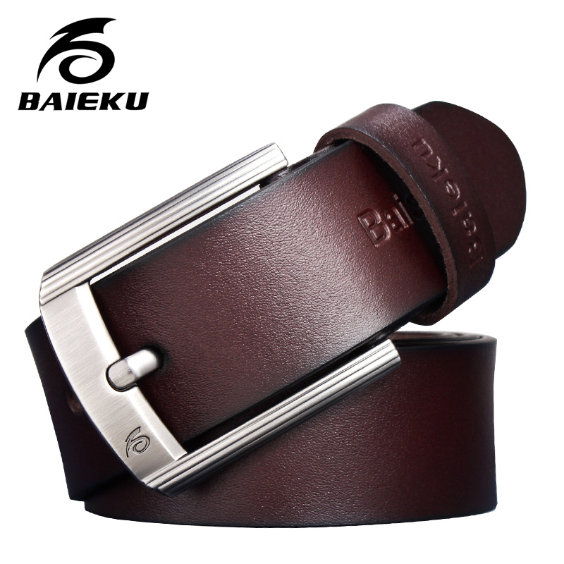 BAIEKU Fashion casual simple men 's   belt   Lengthened 140cm male and female   belts