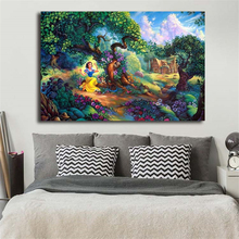 Princess Snow White In Forest Canvas Posters Prints Wall Art Painting Decorative Picture Modern Home Decoration Accessories HD