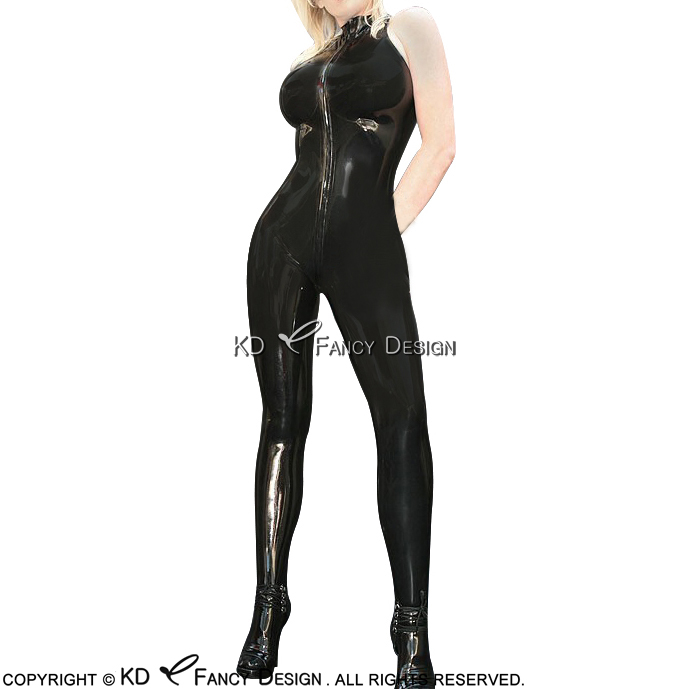 Novelty & Special Use Apprehensive Metallic Black Sexy Sleeveless Latex Catsuit With Feet Sock Back To Crotch Zip Rubber Bodysuit Body Suit Zentai Overall Lty-0125