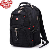 Swisswin Swiss Waterproof Laptop Backpack 15 Inches Quality Male Brand Large Capacity Business Backpack Travel Bags