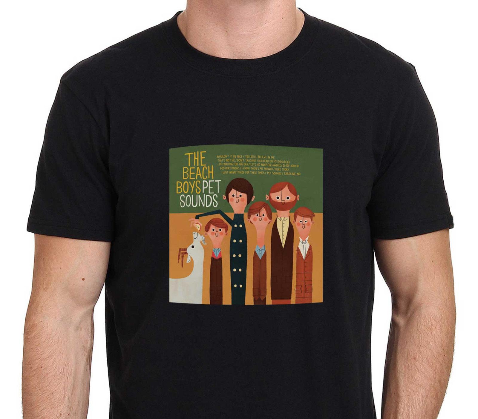 New 2017 Men'S Fashion The Beach Boys Pet Sounds Printed T Shirt Men Boy Novelty Short Sleeve T Shirt Tops Fashion Tees